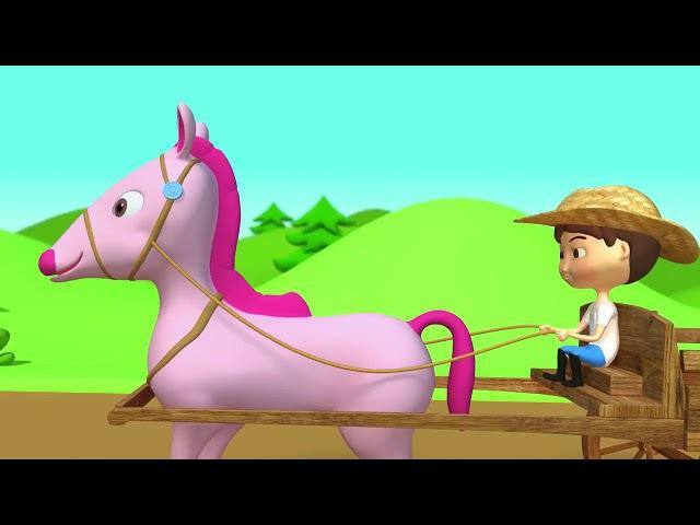 Детская песенка про лошадку Мультфильм для малышей Пони, пони