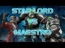 Звездный Лорд Против Маэстро Марвел Битва чемпионов Star Lord Versus Maestro LOl