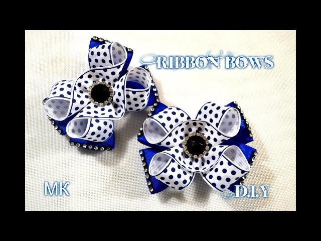 🎀Ribbon Bows/💖 Очень красивые бантики/Бантики в школу и каждый день/Tutorial/МК/D.I.Y
