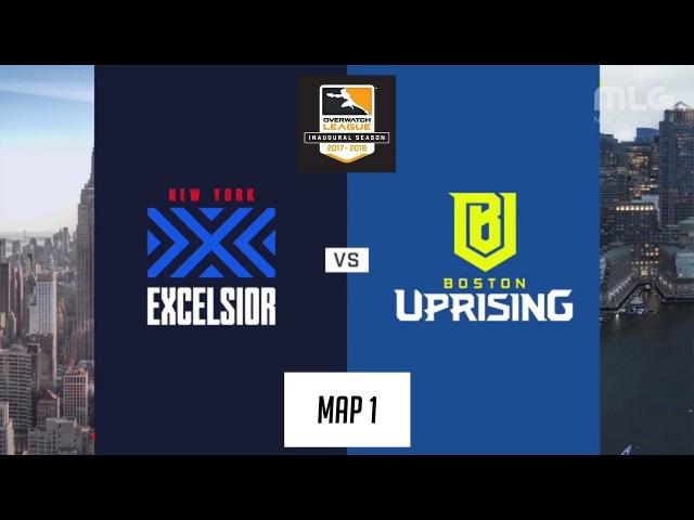 New York Excelsior vs Boston Uprising (Map 1: Dorado) | Inaugural Preseason