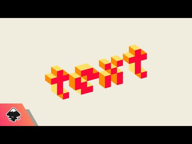 Inkscape Tutorial: 3D Pixel Text