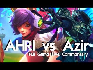 CLEAN PLAYS! - AHRI vs Azir - League of Legends