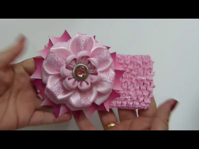 Hermosas flores de Liston para Decorar Balacas o Ganchos para el cabello