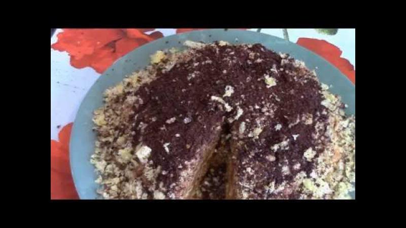 Очень вкусный тортик из кукурузных палочек ! Торт без выпечки .Торт муравейник .
