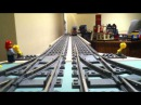 Lego Trains Trackside View Arriving and Leaving Town