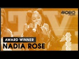 NADIA ROSE Skwod BEST VIDEO acceptance speech at MOBO Awards 2016 MOBO