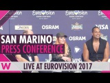 San Marino Press Conference  Valentina Monetta &amp Jimmie Wilson Eurovision 2017  wiwibloggs