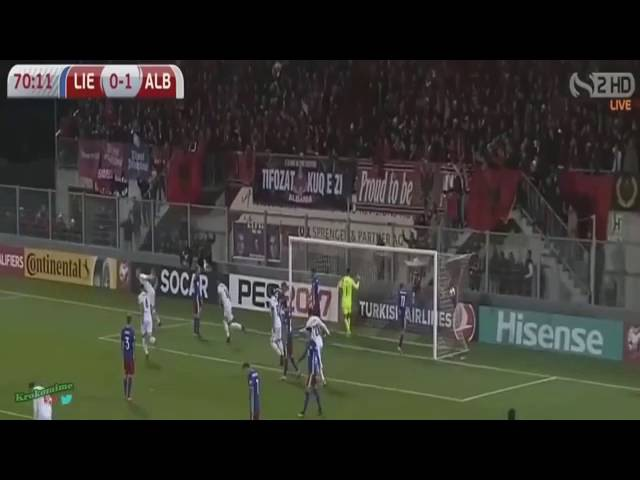 Liechtenstein - Albania 0-2, All Goals Highlights - 06/10/2016.