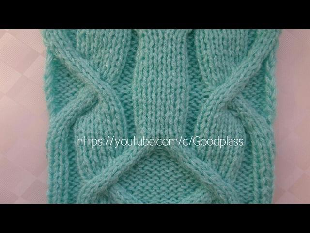 Ирландский узор Часть 2/3 Узор -аран. Вязание спицами. Knitting(Hobby)