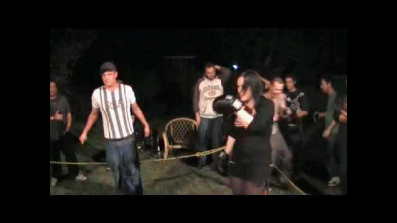 Backyard Brawlers- The Chick Fight - she gets pissed!