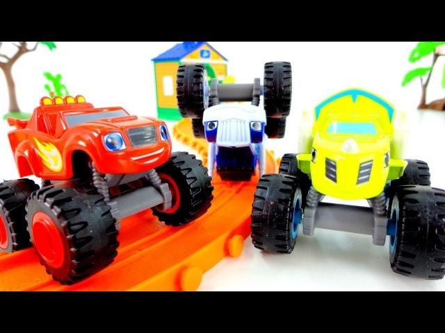 Blaze le mega macchine episodi in italiano-Crusher gioca sulla ferrovia-Giochi per bambini con cars