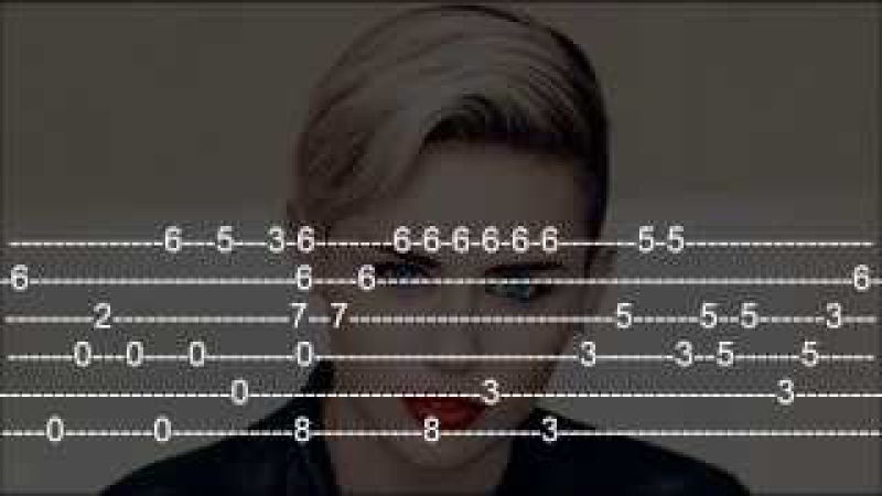 Miley Cyrus - Wrecking Ball Guitar Tab