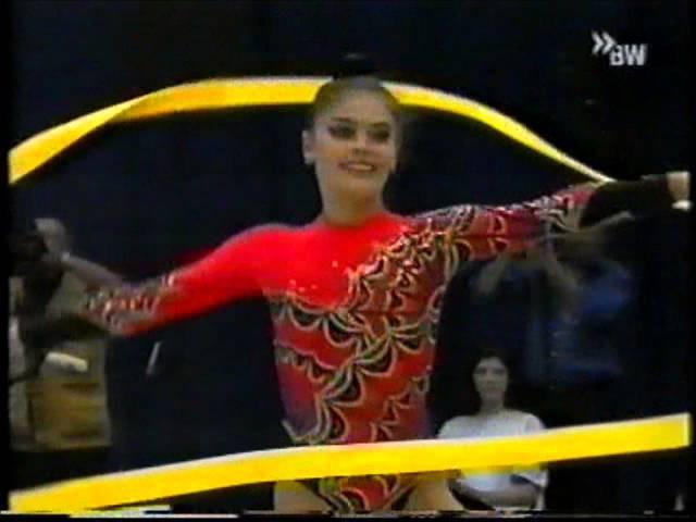 Алина Кабаева лента финал Кубок Мира 2000 Карлсруэ