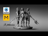 Zbrush4R7 - Time Lapse - Sculpting - Orc - Keyshot 6 - Marvelous Designer