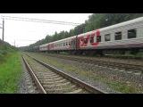 Электровоз ВЛ11.8-707 с грузовым поездом платформа Мачихино 14.08.2017