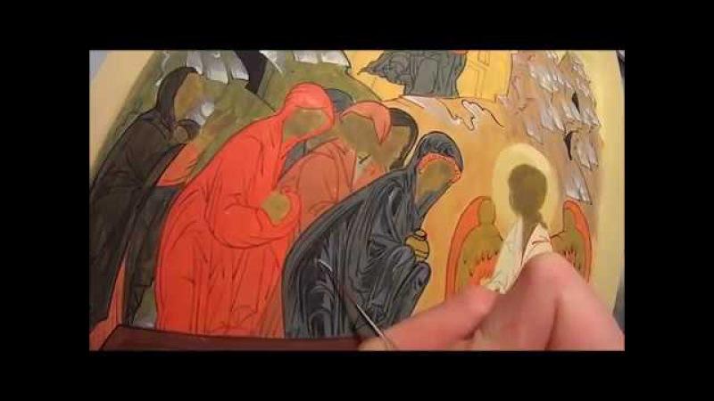 Первый, второй пробел на иконе Жены Мироносицы у гроба Господня Одежды