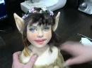 мк по кукле из капрона и синтепон зубки, ушки, глазки