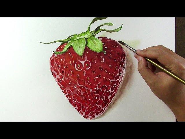 VẼ QUẢ DÂU | Watercolor | Vẽ Màu Nước