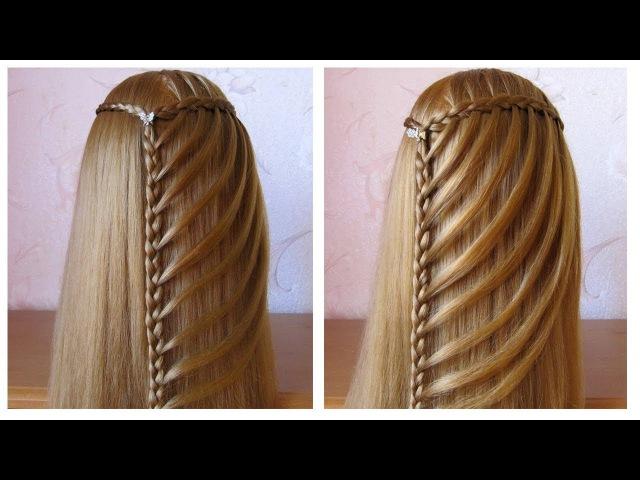 Tuto tresse cascade facile ★ Coiffure simple pour tous les jours cheveux long
