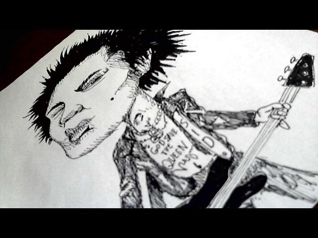 ArtBlack caricature Sex Pistols Карикатура Сид Вишес