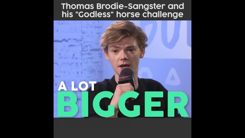 Thomas Sangster Безбожники