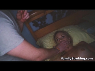 Daddy sneaks into his daughter room after mom was asleep to get some from her