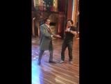 Тайгер и Митхун Чакраборти на съемках шоу #TheDramaCompany