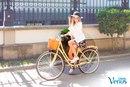 Девочки, прогулки на велосипеде на свежем воздухе очень полезны для здоровья!