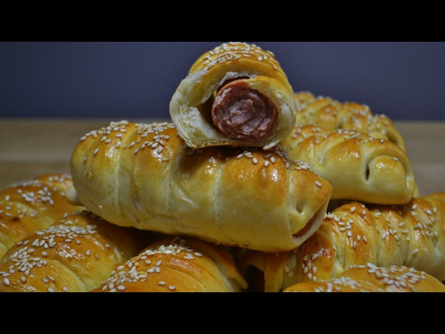 Сосиски в Тесте или Идеальный Перекус для природы, работы или дома Sausages in the dough