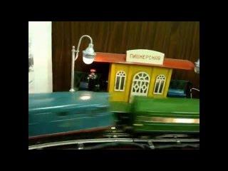 Послевоенная игрушка. Железная дорога