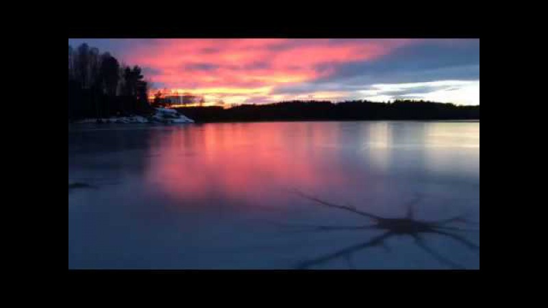 Live cellphone video, ice skating on lake in Norway
