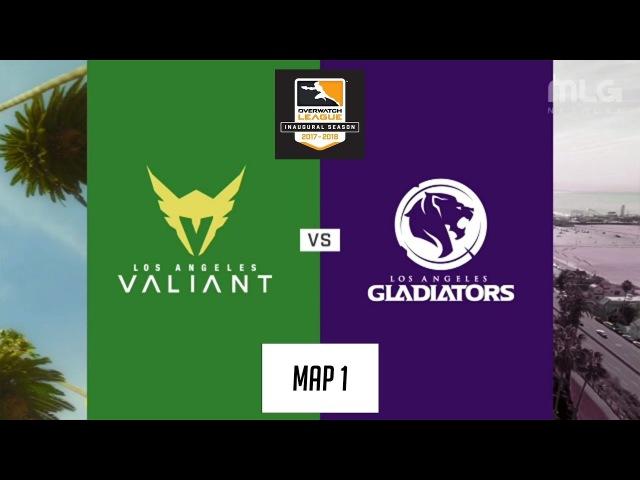 Los Angeles Valiant vs Los Angeles Gladiators (Map 1: Dorado) | Inaugural Preseason