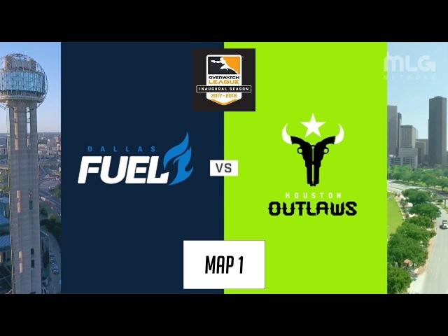 Dallas Fuel vs Houston Outlaws (Map 1: Dorado) | Inaugural Preseason