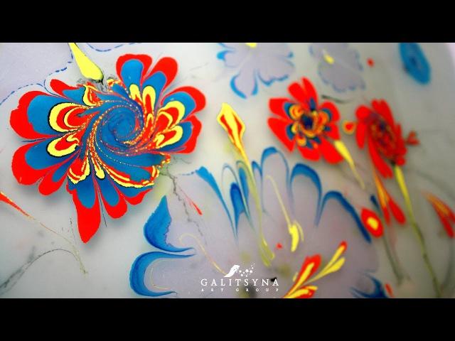 Водная Анимация. Эбру. Рисование на воде. Galitsyna Art Group