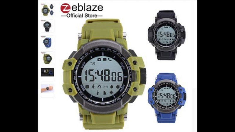Zeblaze MUSCLE Smartwatch BT 4.0 Calling Reminder Pedometer IP67 Waterproof Smart Watches