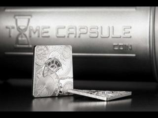 Искривлённая серебряная монета «Капсула времени»