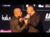 Jose Aldo vs. Max Holloway UFC 212 Media Day Staredown - MMA Fighting