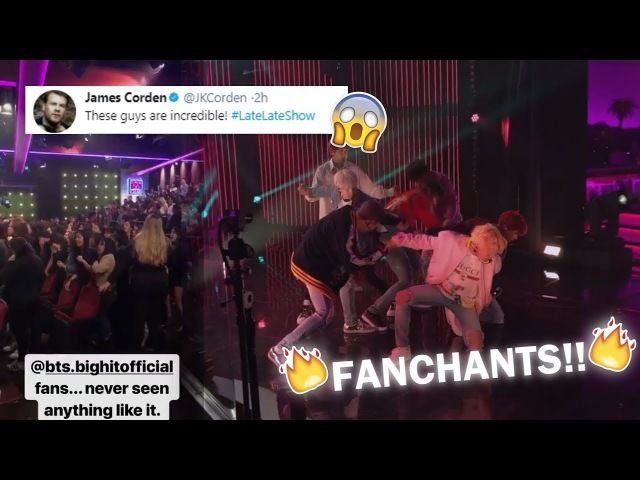 (THE FANCHANTS THOUGH) BTS - The Late Late Show Recording BTSxJamesCorden