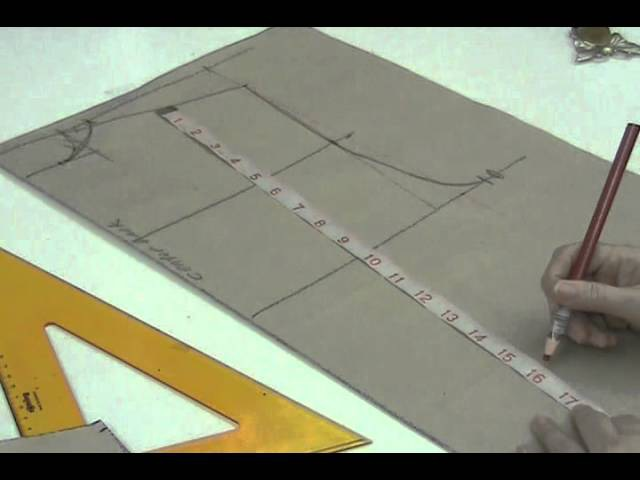 Lesson 2 31 EXTRA LARGE Back Bodice Part 2 PATTERN MAKING OF A BASIC DRESS WITH WAISTLINE