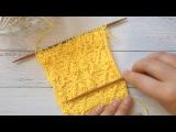 Схема вязания спицами, растительный ажур