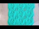 Ажурный узор Листочки с бутонами Вязание спицами Видеоуроки