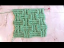 Объемный узор в виде Шахматки Вязание спицами Видеоуроки