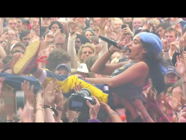 Princess Nokia Crowdsurfs While Rapping G.O.A.T. Live at Roskilde Festival 2017