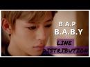 B.A.P - B.A.B.Y - Line distribution -6 B.A.Ps Hands Up