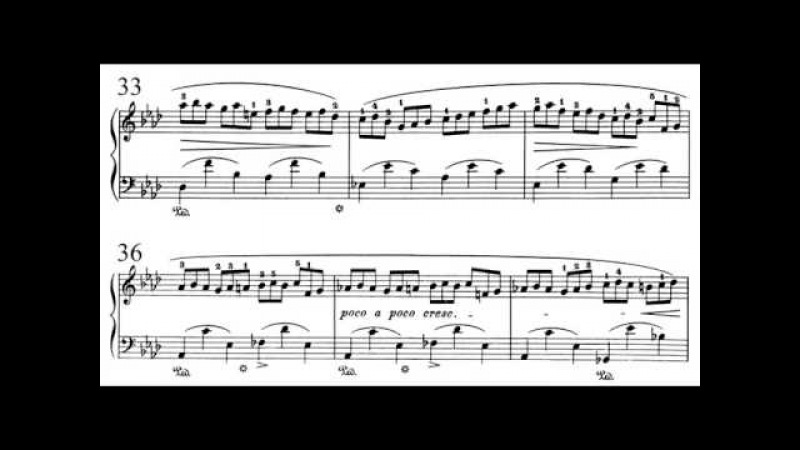 Frédéric Chopin Étude for piano No. 14, Op. 25 No. 2 in F Minor (SD)