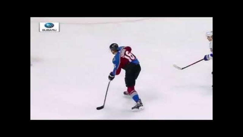 Nikita Zadorov great pass goal for Natan MacKinnon vs Lightning (2017)