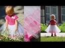 Очаровательное детское платье с лифом крючком и юбочкой из фатина