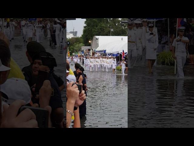 Русские на военноморском параде в Тайланде 2017год