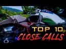 TOP 10 CLOSE CALL Compilation DEATH Defying Motorcycle Riding Superbike Sport Bike Insanity