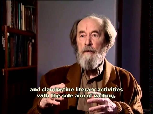Solzhenitsyn on Civilization Self Restraint and Right Living